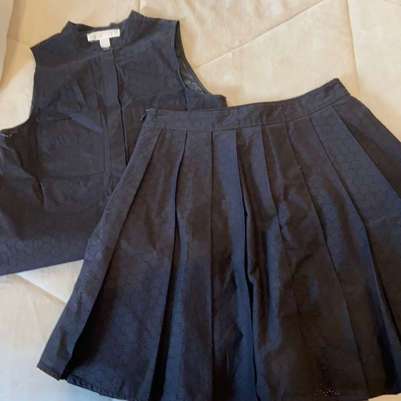 Michael Kors matching shirt and skirt set